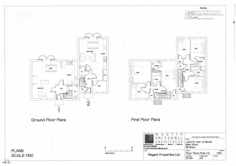 plots 1 and 2 floor plans